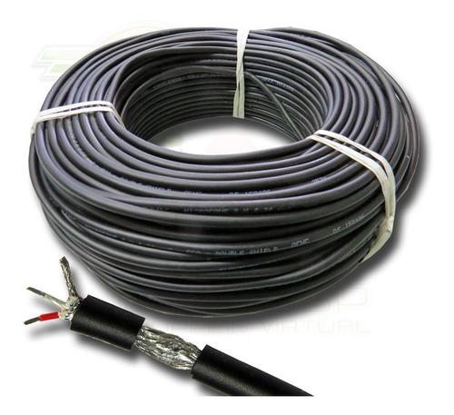 kit montagem de cabo microfone balanceado 100m de cabo+20 co