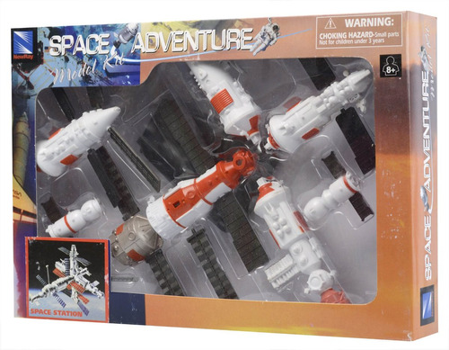kit montar space station space adventure newray escala 1:48