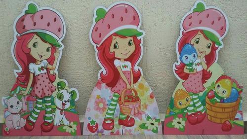 kit moranguinho 3 totem 80cm e 6 display 22cm decoração mdf