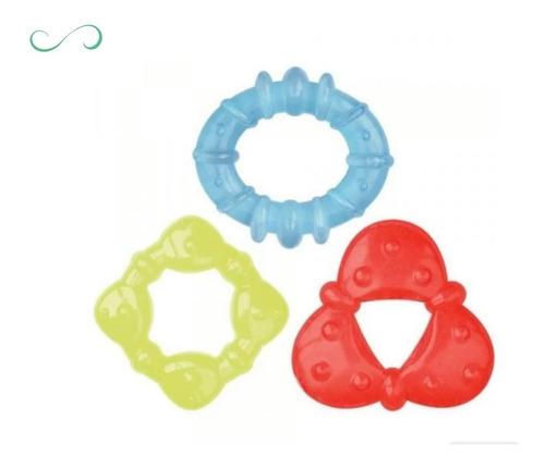 kit mordedor para bebê anti stress resfriável c/ água - buba