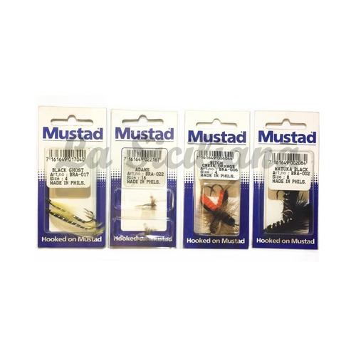 kit moscas mustad x 8u surtidas fly cast