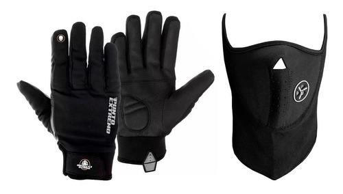 kit moto mascara +guante punto extremo pb28 frio devotobikes