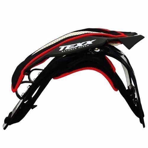 kit motocross protetor de pescoço texx + oculos fx-1 texx