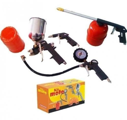 kit motopress, revolver, pistola de pintura ar direto
