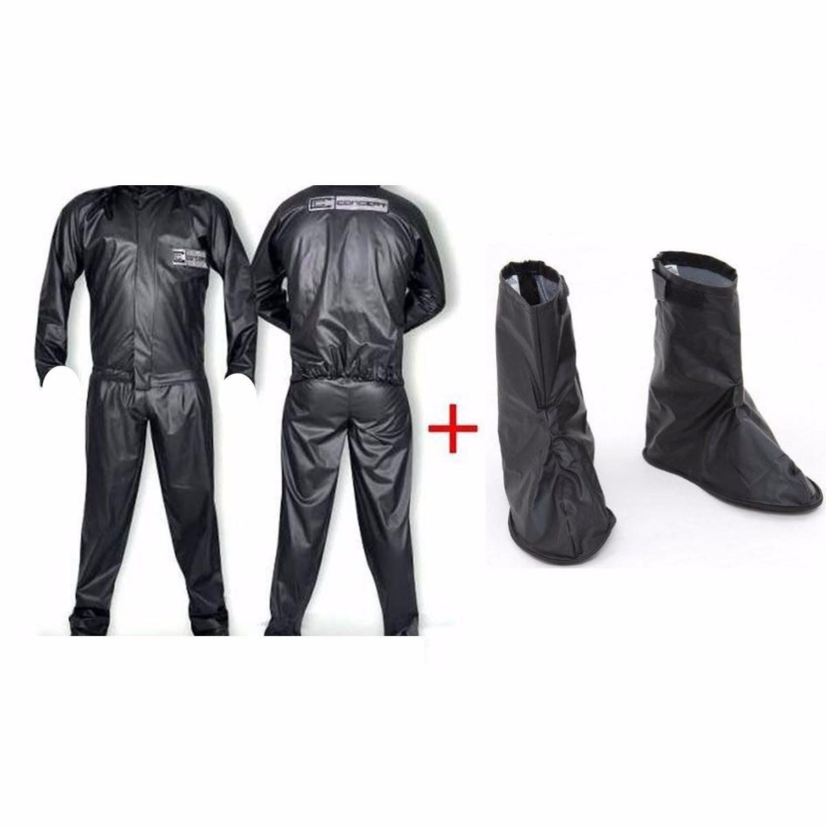 e29606660a3 kit motoqueiro impermeável capa chuva + polaina pvc moto. Carregando zoom.