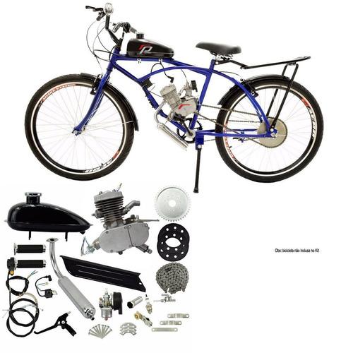 kit motor 80cc bicicleta completo motorizada gasolina top