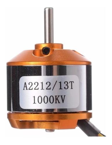 kit motor a2212 1000kv + esc-30a + 2 helices 1045 propelas