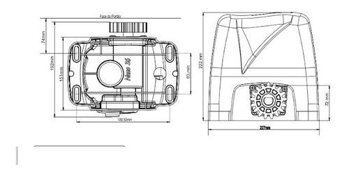 kit motor automatizador portão deslizante nano turbo rossi