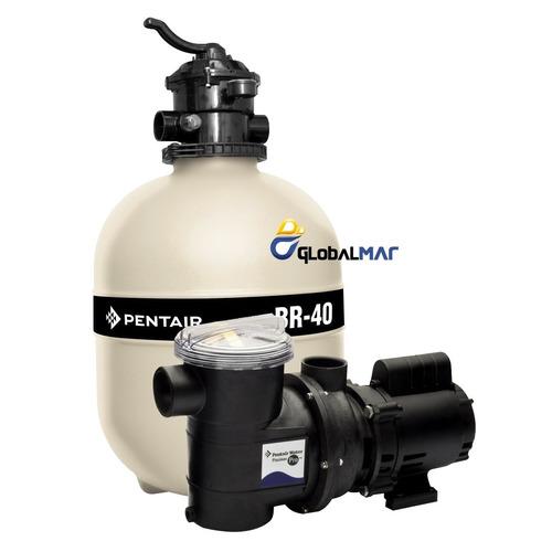 Kit motor bomba e filtro para piscina sibrape 1 3 cv br 40 for Motor piscina