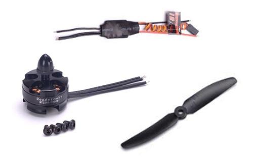 kit motor brushless 2204 2300kv + esc 12a + hélices 5030 ccw