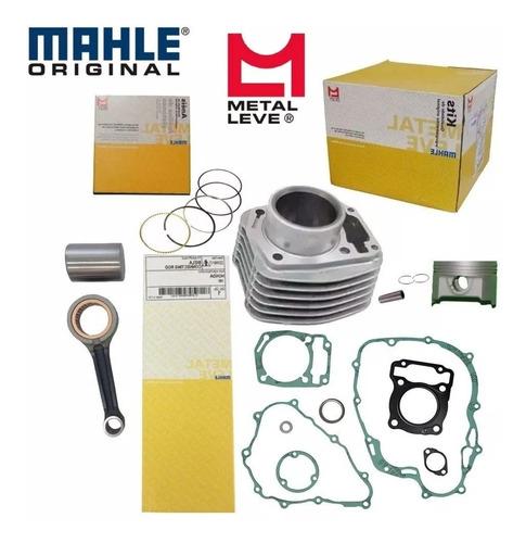 kit motor cilindro pistão biela válvula 125 titan fan 02/08