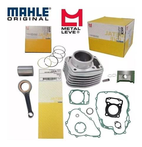 kit motor cilindro pistão biela válvula cg 125 fan 2009 2013