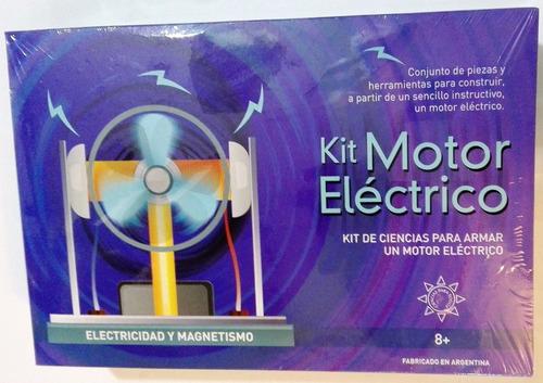 kit motor eléctrico juego de ciencias para armar +8 años