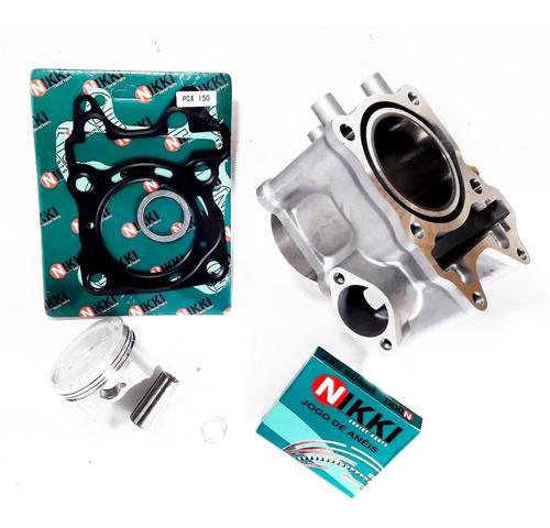 kit motor nikki cilindro pistão e anéis honda pcx 150 pcx150