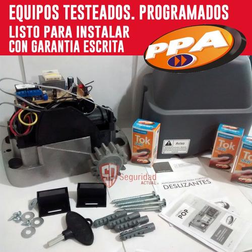 kit motor porton corredizo automatico p/ 400 kg. 3 controles