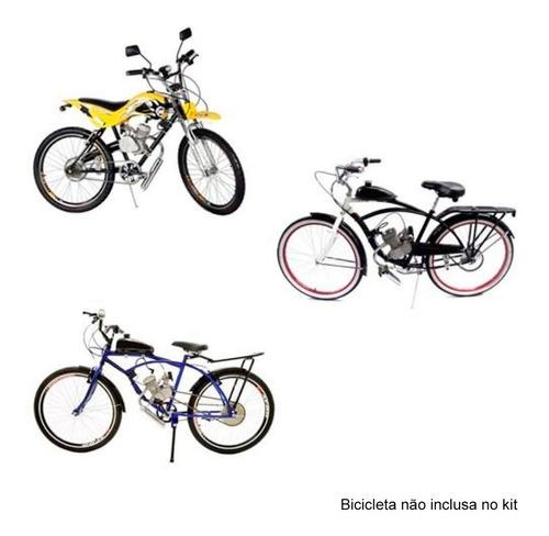 kit motor preto para bicicleta motorizada 80cc bike 2 tempos