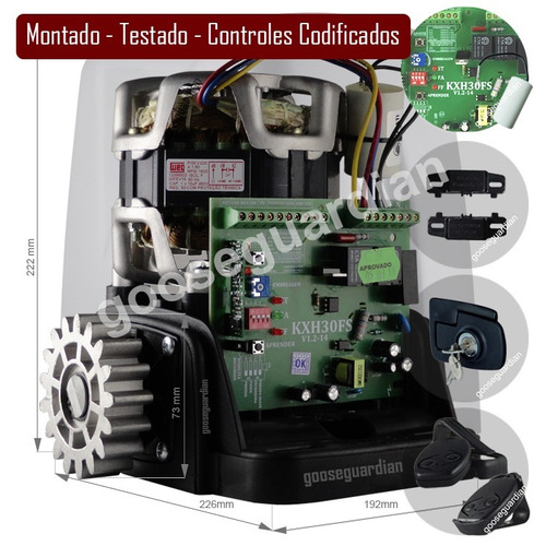 kit motor rossi 1 dz nano turbo 3 crem 3 control 600kg