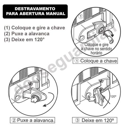 kit motor rossi atto 1/5cv portão deslizante plug 350kg