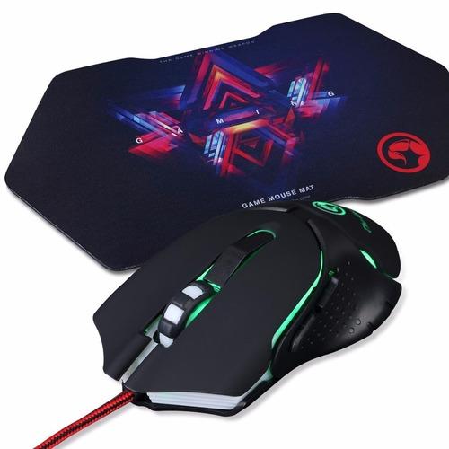 kit mouse + mouspad gaming marvo m309+g7 usb