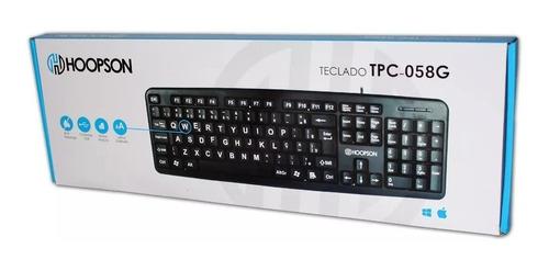kit  mouse óptico-ms-035n + teclados usb 058g letras grandes