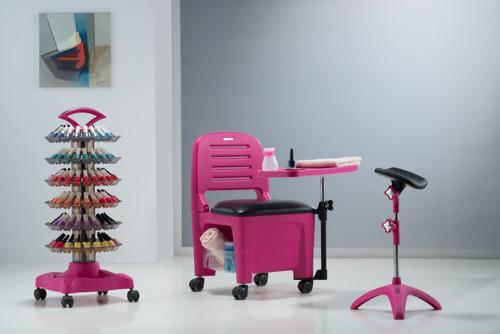 kit móveis manicure: cirandinha, carrinho, tripé - dompel