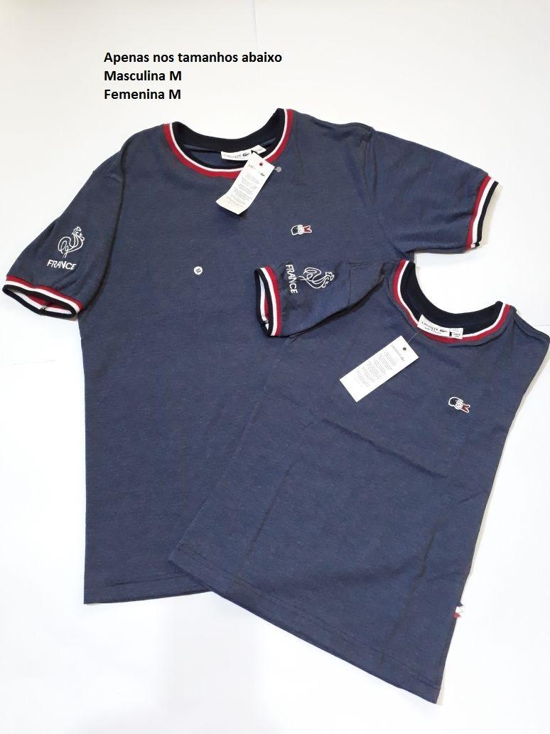 61c259da259 Kit Mozao Lacoste Camiseta Masculina E Feminina Peruanas - R  119