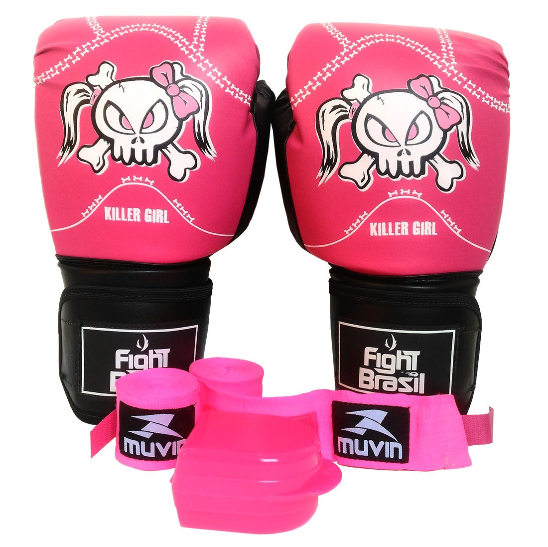 654344335 Kit Muay Thai Barato Luva Bandagem Bucal Fight Brasil 12 Oz - R  139 ...