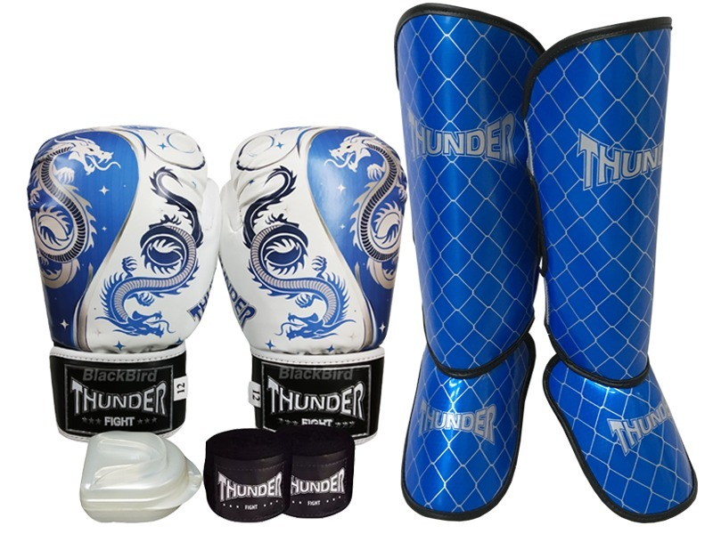47995b2e3 kit muay thai boxe luva 12 oz dragão thunder fight. Carregando zoom.