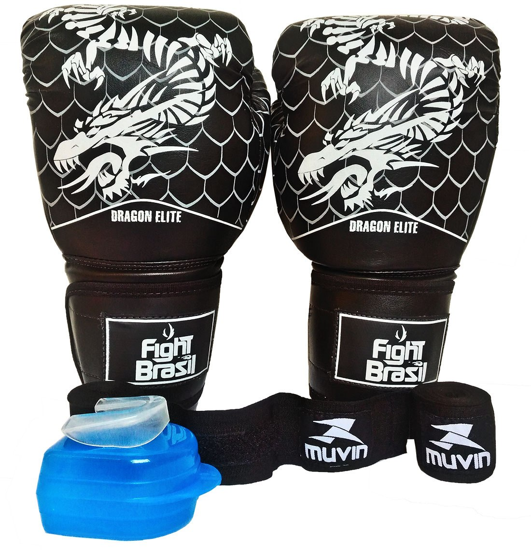 ee47ed808 kit muay thai boxe luva bandagem bucal frete grátis 14 oz. Carregando zoom.