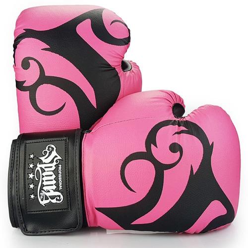 kit- muaythai spank rosa (luva, caneleira, bandagem, bucal)