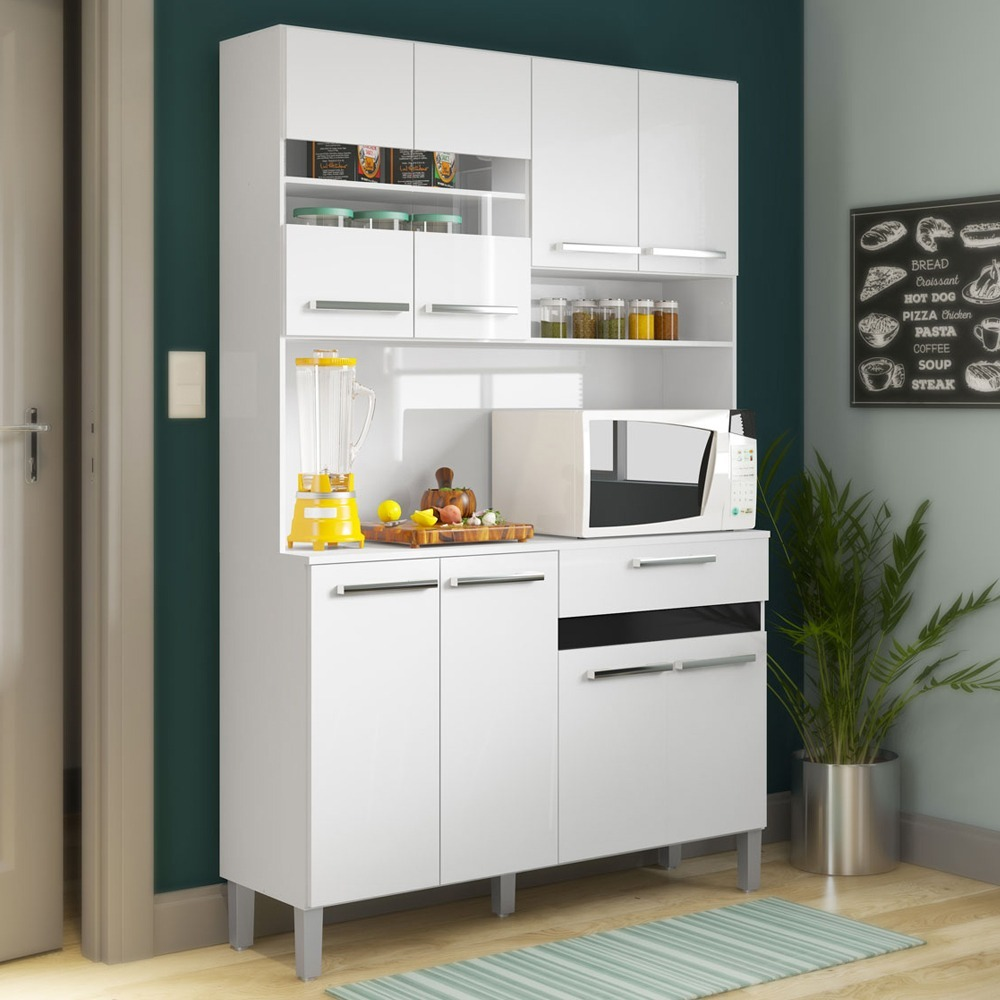 Kit mueble cocina 8 puertas 1 caj n blanco 138109 md en mercado libre - Mueble cocina kit ...