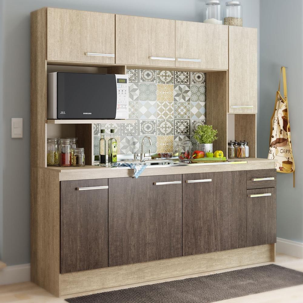 Kit Mueble Cocina 8 Puertas 1 Cajón Freijo 13039 / Md - $ 129.990 en ...