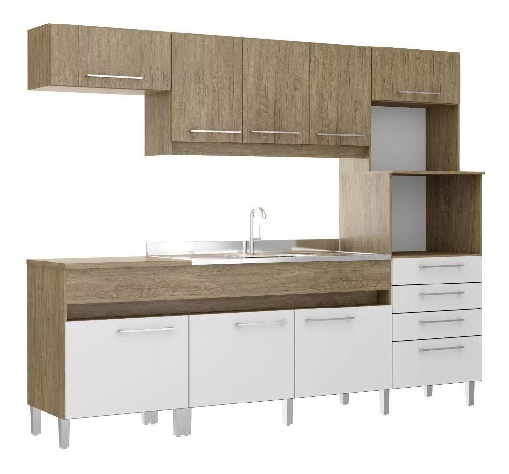 Kit Mueble Cocina 8 Puertas Y 4 Cajones Wood 137780 Fernapet