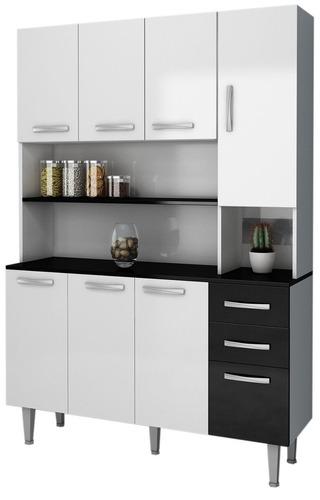 kit mueble de cocina 7 puertas 3 cajones varios colores