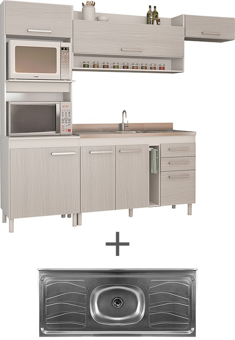 Kit Mueble De Cocina Compacta Mesada De Acero Divino - $ 7.609,00 en ...