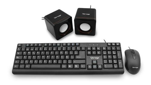 kit multimedia:teclado,mouse y bocinas vorago 103 hm4