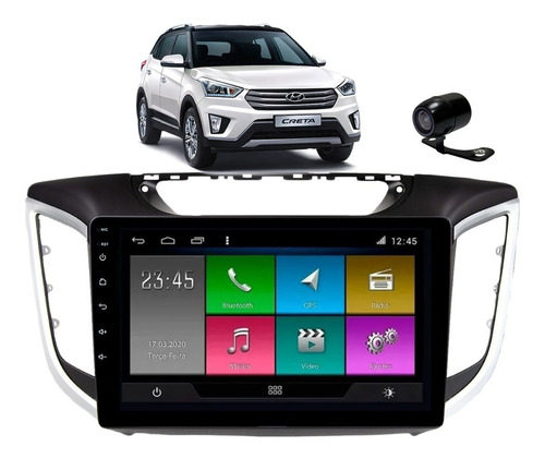 kit multimidia hyundai creta pcd 2020 21 android tv bt wifi