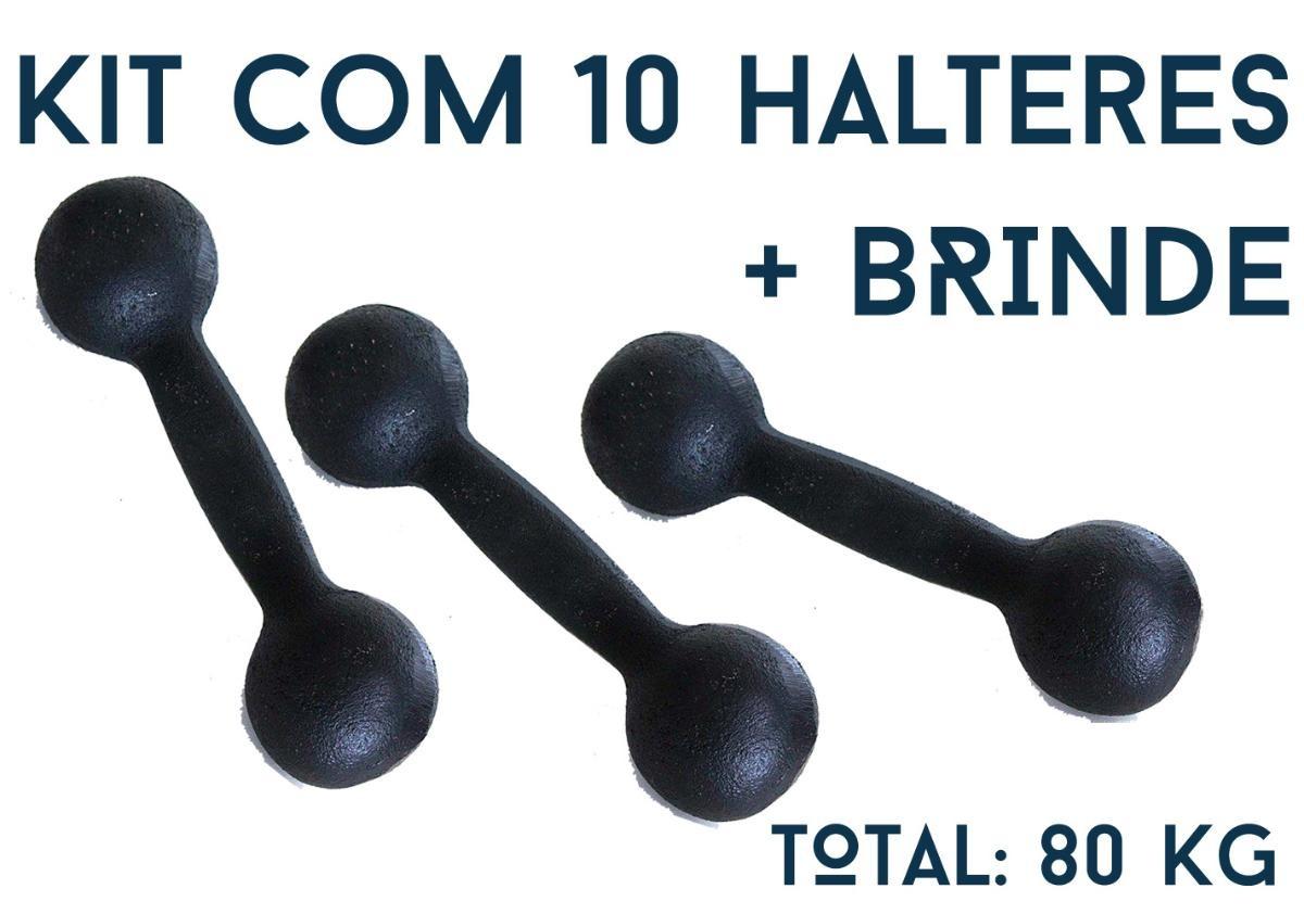 0cb4b6bfd kit musculação intermediário halter de ferro 80 kg fundiban. Carregando  zoom.