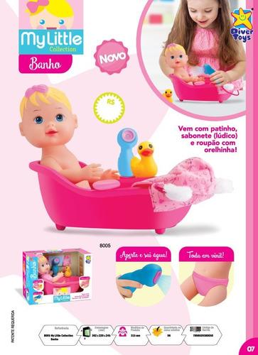 kit my little 01 banho + 01 salão de beleza + 01 doutora