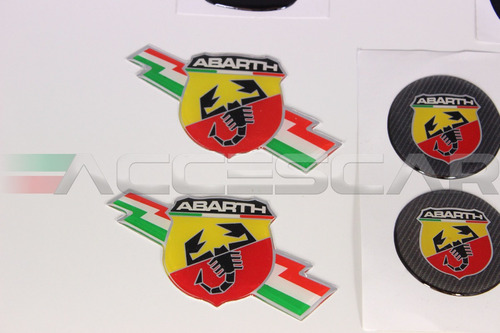 kit nº7 adesivos abarth p/ fiat 500