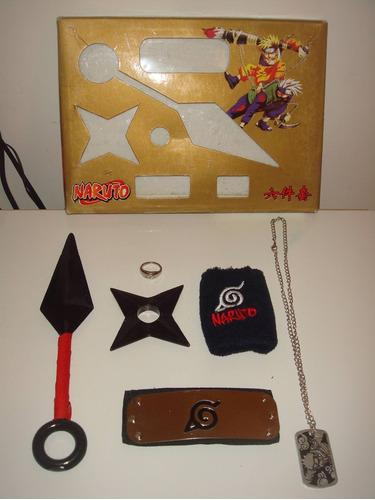 kit naruto cosplay kunai, shuriken, asuma, adaga,soco inglês