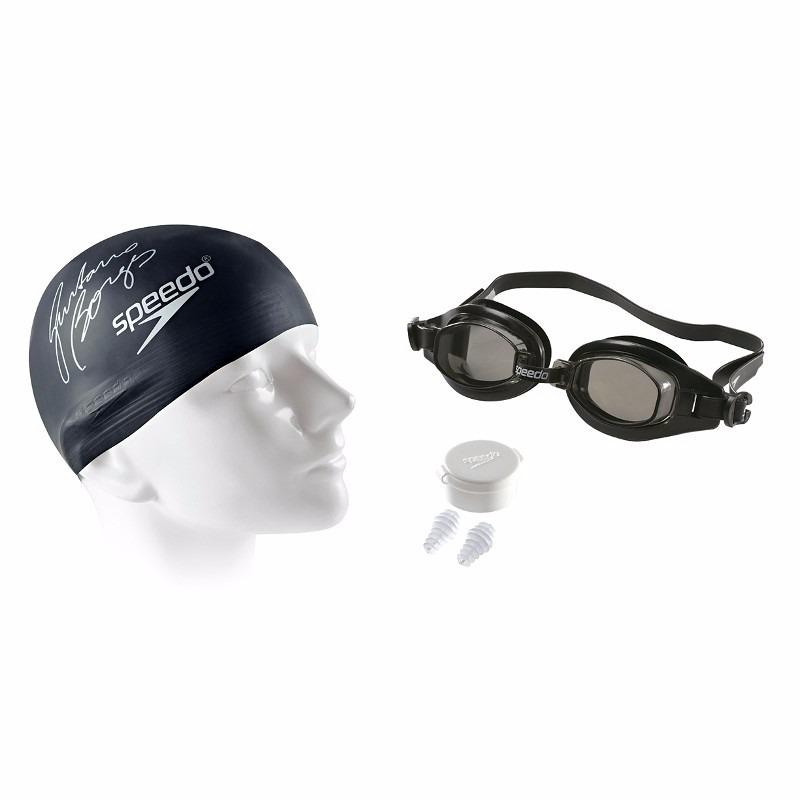 a1f52c60f Kit Nataçao Adulto Speedo Oculos + Touca + Tampao Pt - R  59