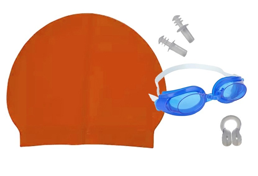 5962777b0 Kit Natacao Oculos + Touca + Protetor Ouvido E Nariz Piscina - R  27 ...