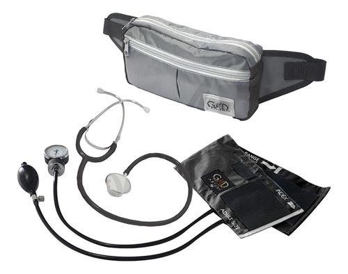 kit negro gris fonendo doble campana + tensiometro +canguro