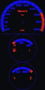 kit neon p/ painel - corsa - cod46v200v2