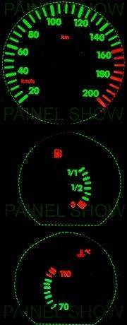 kit neon p/ painel - gol bola g2 parati saveiro - cod23v200