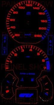 kit neon p/ painel - gol parati santana voyage - cod20v220