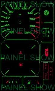 kit neon p/ painel - gol saveiro parati voyage - cod15v200