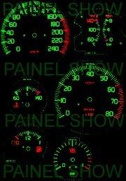 kit neon p/ painel - uno turbo - cod93v240