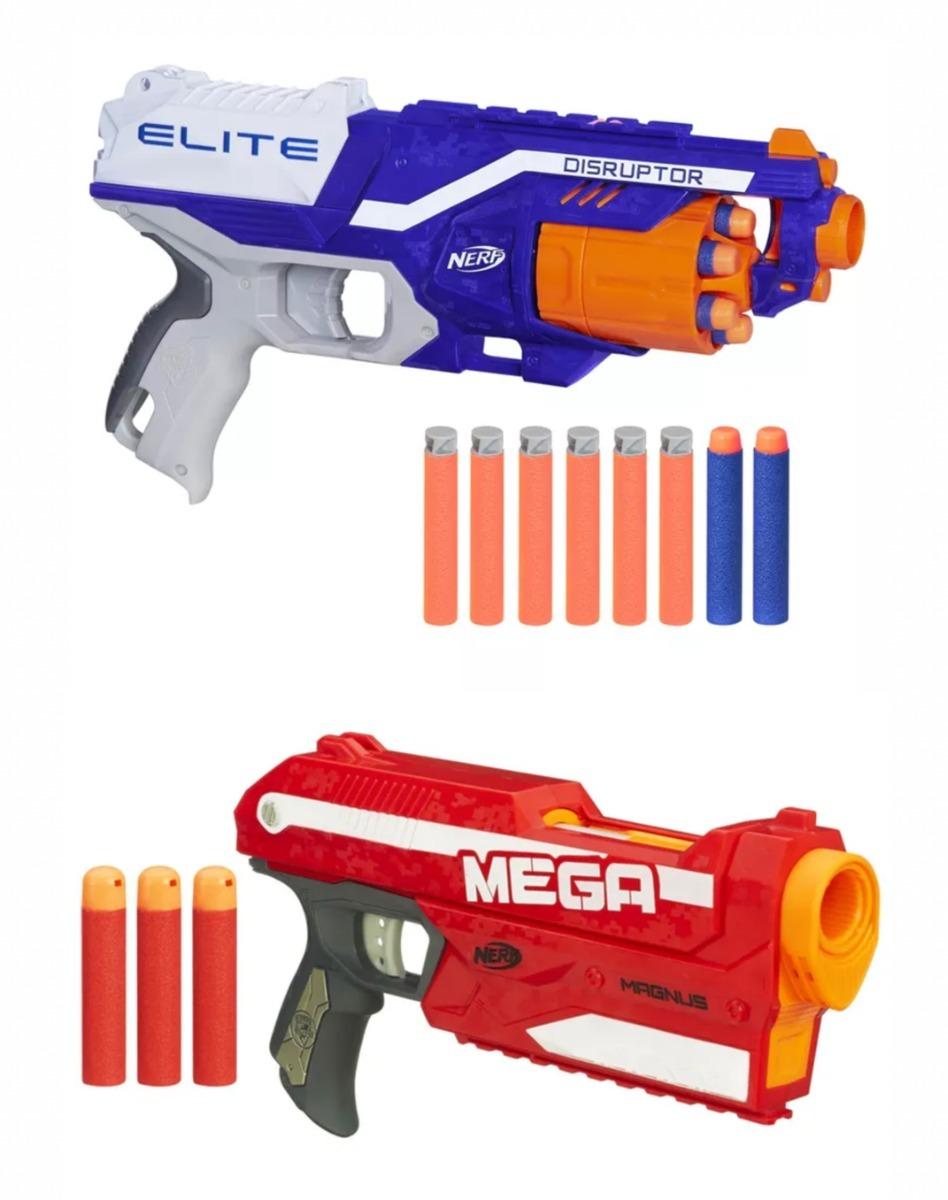 1ff7496f74f kit nerf n-strike mega magnus + nerf elite disruptor hasbro. Carregando  zoom.